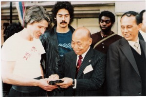 John Farrell with late Chan Hon Chung-Chairman of HKCMAA